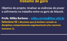 Projeto - Profa. Milka Correia